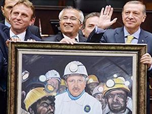 Başbakan'a verilen madenci tablosu tepki çekti