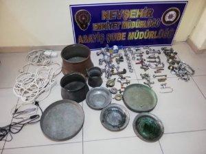 Nevşehir'de hırsızlık şüphelisi 1 kişi tutuklandı