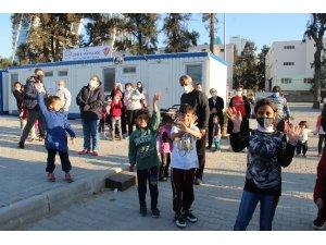 AFAD spor gönüllülerinden depremzedelere ziyaret
