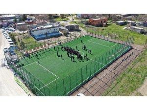 Karaköprü kırsalında spor yatırımı