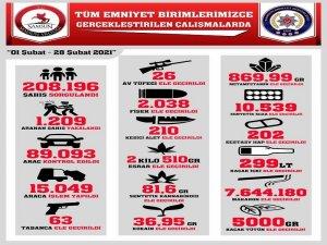 Samsun'da bin 209 şüpheli yakalandı