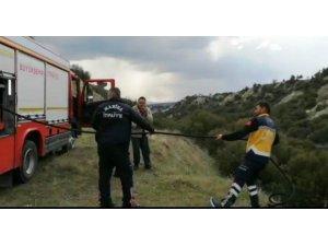 112 Acil Sağlık ekipleri bu kez ormanı yanmaktan kurtardı