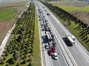 Mustafa Sarıgül'ün dev konvoyu havadan görüntülendi