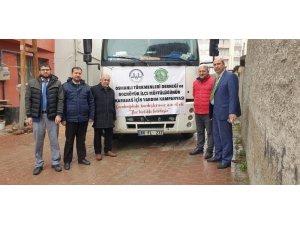 Yardım tırı Karabağ'a doğru yola çıktı