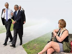 Barack Obama öğlen yürüyüşüne çıkarsa...