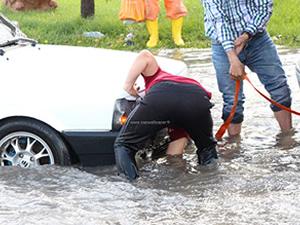 Yağış Ankara'yı denize çevirdi