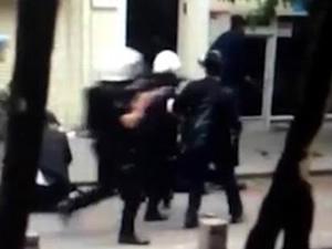 Cihangir'de polis dayağı