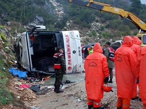 Isparta'da facia gibi trafik kazası!