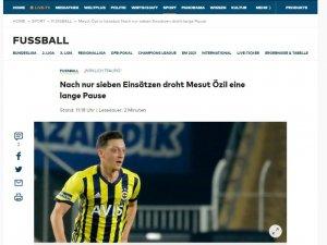 Mesut Özil'in sakatlığı dünya basınında