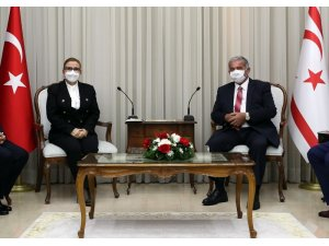 Ticaret Bakanı Pekcan, KKTC Meclis Başkanı Sennaroğlu ile görüştü