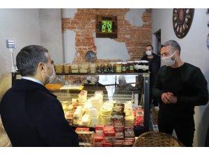 Vali Atay Akçakoca'da korona virüs denetimi yaptı