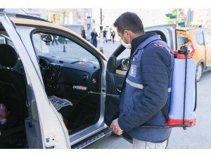 Taksiler her gün dezenfekte ediliyor