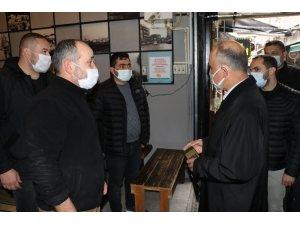 """Yalova Valisi Erol, """"yüksek riskli"""" iller arasında bulunan Yalova'da alınan salgın tedbirlerini denetledi"""