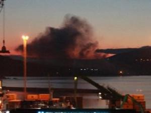 Gübre fabrikasında yangın çıktı