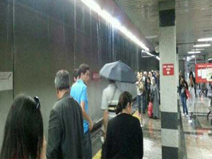 Ankara metroyu su bastı