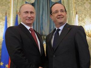 Fransa lideri Hollande ve Rusya lideri Putin Paris'te bir araya geldi
