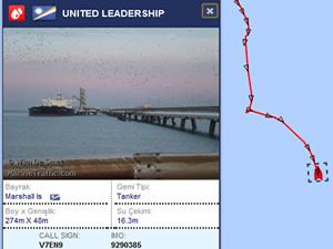Kuzey Irak petrolünü taşıyan tanker, Okyanusta zig-zag çiziyor