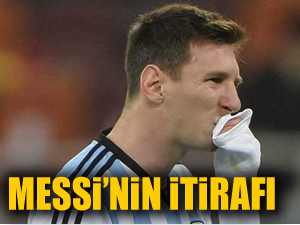 Messi'nin dünya kupası itirafı