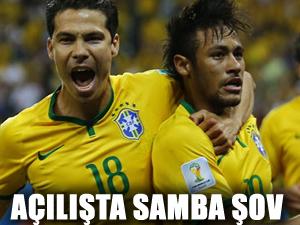 Açılışta Samba şov