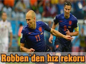 Robben'den hız rekoru