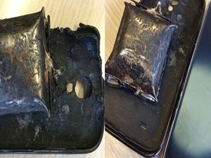 Dikkat Galaxy S4 patladı!