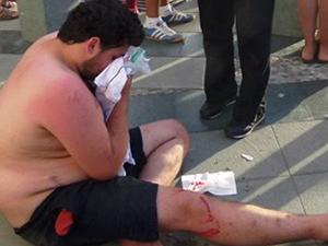 Reza Zarrab'ın korumaları genci işte böyle dövdü