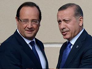 Erdoğan, Fransa Cumhurbaşkanıyla görüştü