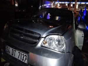 Kaza yapan araçtan 2 kilo esrar çıktı