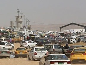 Irak'ta benzin bitti trafik durdu