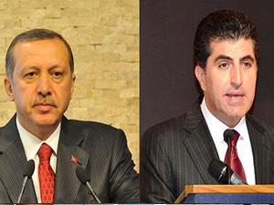 Erdoğan'dan Barzani'ye kutlama mesajı