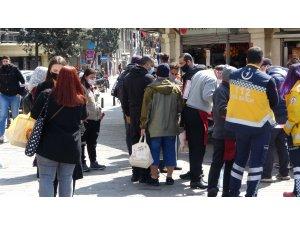Taksim'de polis ve zabıtadan ortaklaşa korona virüs denetimi