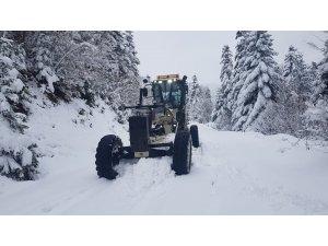 Sinop'ta Nisan karı: 10 köy yolu kapalı