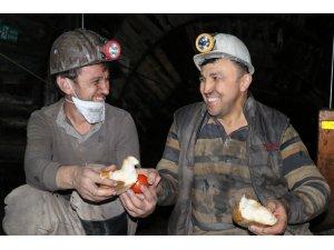 Madencilerin yerin 300 metre altında ilk sahuru