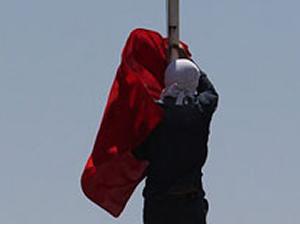 Diyarbakır'da bayrak alarmı