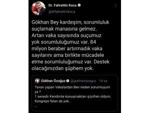 """Bakan Koca: """"84 milyon beraber artırmadık vaka sayılarını ama birlikte mücadele etme sorumluluğumuz var"""""""