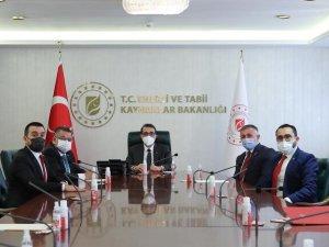 AK Parti İl Başkanı Yıldırım'dan Bakan Dönmez'e ziyaret