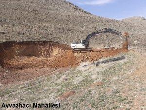 Ayvazhacı - Çöten - Kızık Mahallelerinde gölet yapım çalışmaları devam ediyor
