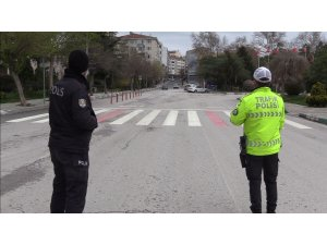 Kırklareli'nde 58 saatlik kısıtlamada polis ekipleri kuş uçurtmuyor