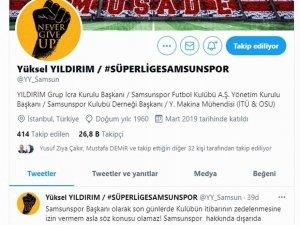 """Başkan Yıldırım: """"Samsunspor'un itibarı kırmızı çizgimiz ve namusumuzdur"""""""