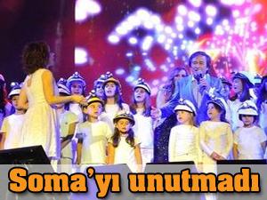 Erol Evgin Soma'yı unutmadı