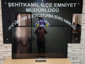 Televizyon hırsızı yakalandı