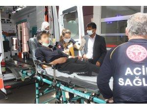 Elektrik akımına kapılan genç yaralandı