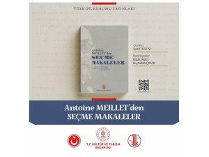 """Türk Dil Kurumunun yeni yayını: """"Antoine Meillet'den Seçme Makaleler"""""""