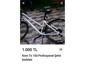 Çalıntı bisikleti internetten satmak isteyen şahıs, suç üstü yakalandı