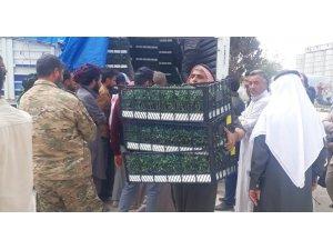 Barış Pınarı bölgesindeki çiftçilere destek