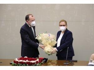 Ticaret Bakanlığında devir teslim töreni