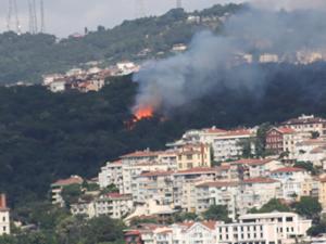Fethi Paşa Korusu'nda korkutan yangın