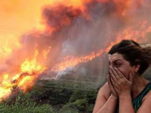 Antalya da korkutan yangın