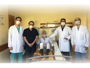 KEA Hastanesinde ilk kez diz kireçlenmesi ameliyatı yapıldı