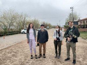Ukraynalı turistlerden Sultan Sazlığı Kuş Cenneti'ne ziyaret